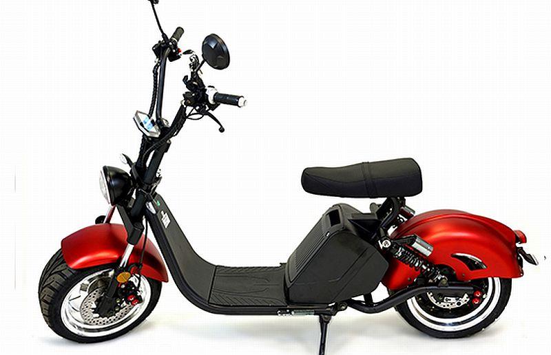 Chopper, Elektroroller, E-Roller 1500/25/3.0 sw-mattrot Bild 2