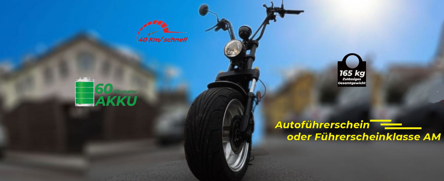 Citi Cruiser 1200L Elektro Scooter Chopper City-Scooter schwarz grau Bild 5