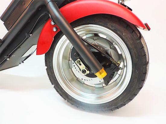 Citi Cruiser 1200l Elektro Scooter Chopper City-Scooter schwarz rot Bild 3