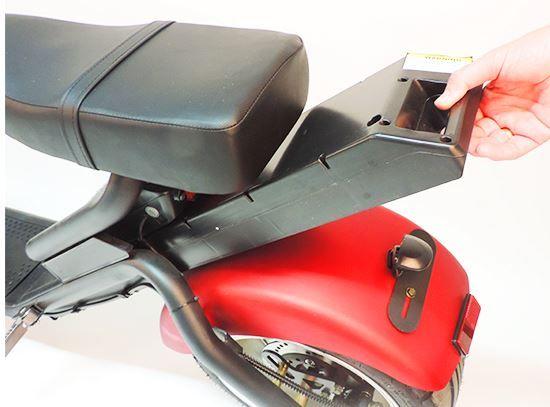 Citi Cruiser 1200l Elektro Scooter Chopper City-Scooter schwarz rot Bild 4