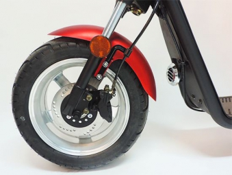 Citi Cruiser 1200l Elektro Scooter Chopper City-Scooter schwarz rot Bild 2