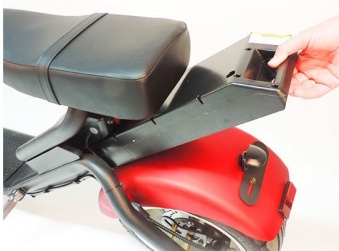 Citi Cruiser 1200l Elektro Scooter Chopper City-Scooter schwarz rot Bild 4