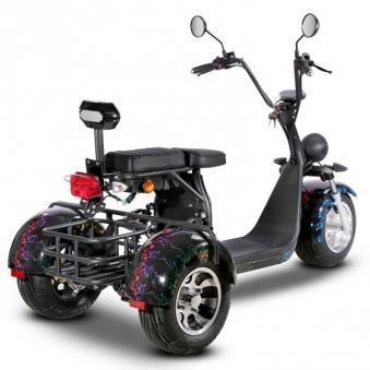 Dreirad Elektroroller 100K / Seniorenmobil / Trike 2000 Watt schwarz Bild 2