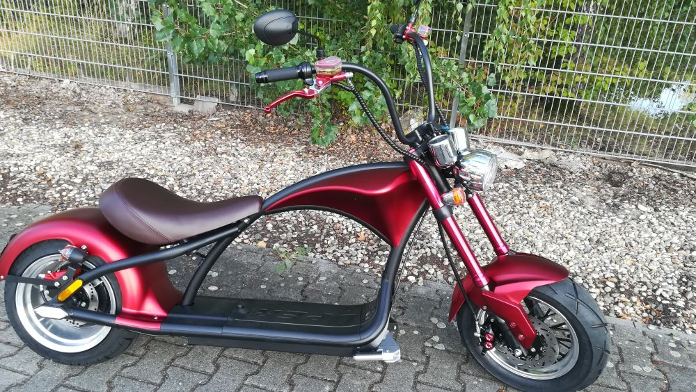 E-Roller Mr. Harley C9 Elektro Roller Elektromoped City Criuser Rot Bild 1