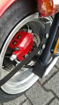 E-Roller Mr. Harley C9 Elektro Roller Elektromoped City Criuser Rot Bild 7
