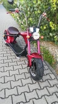 E-Roller Mr. Harley C9 Elektro Roller Elektromoped City Criuser Rot Bild 9