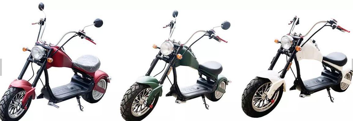 Elektro Mr.Harley C3000S Elektro-Roller E-Chopper rot-matt Bild 3