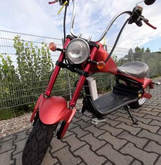 Elektro Mr.Harley C3000S Elektro-Roller E-Chopper rot-matt Bild 2