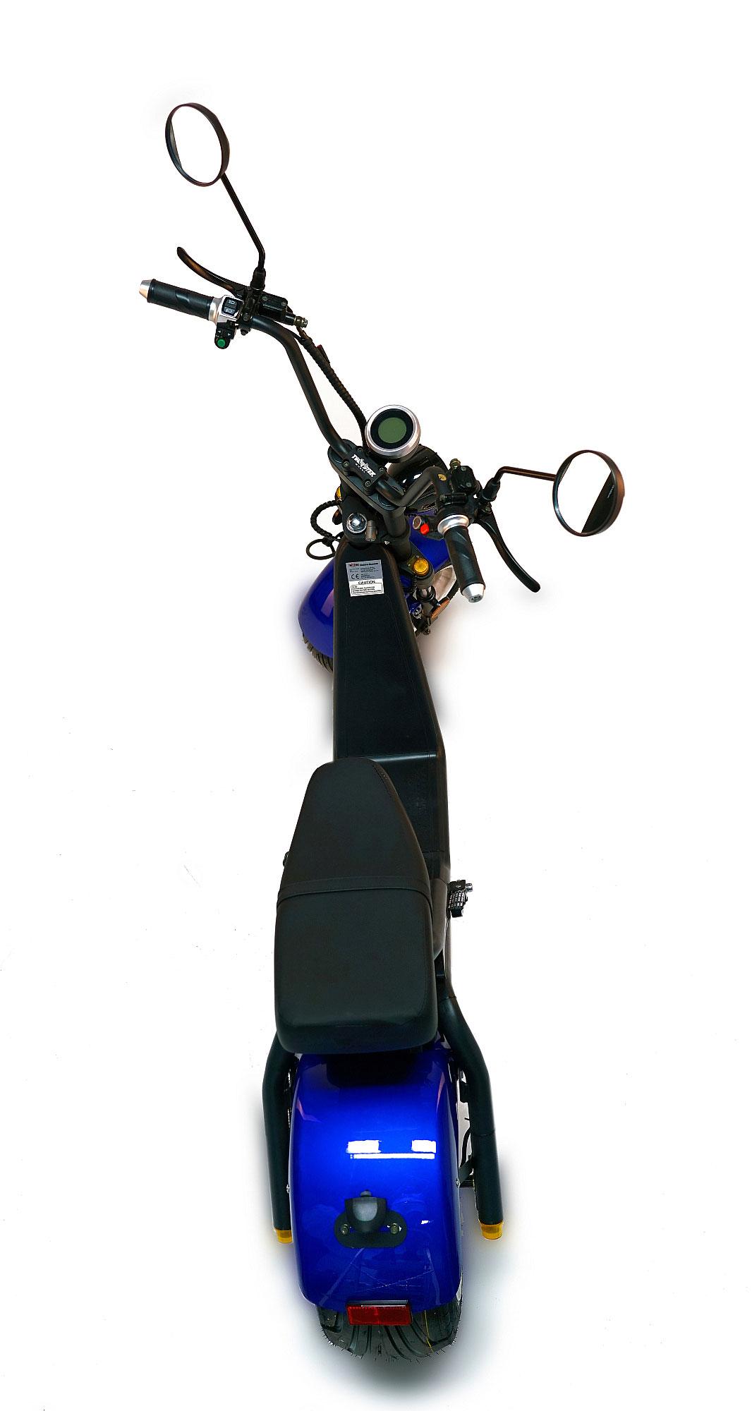 Elektro-Roller, 1200L, E Cruiser, Elektro Scooter, City Chopper sw/bl Bild 2