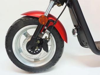 Elektro-Roller, 1200L, E Cruiser, Elektro Scooter, City Chopper sw/bl Bild 3