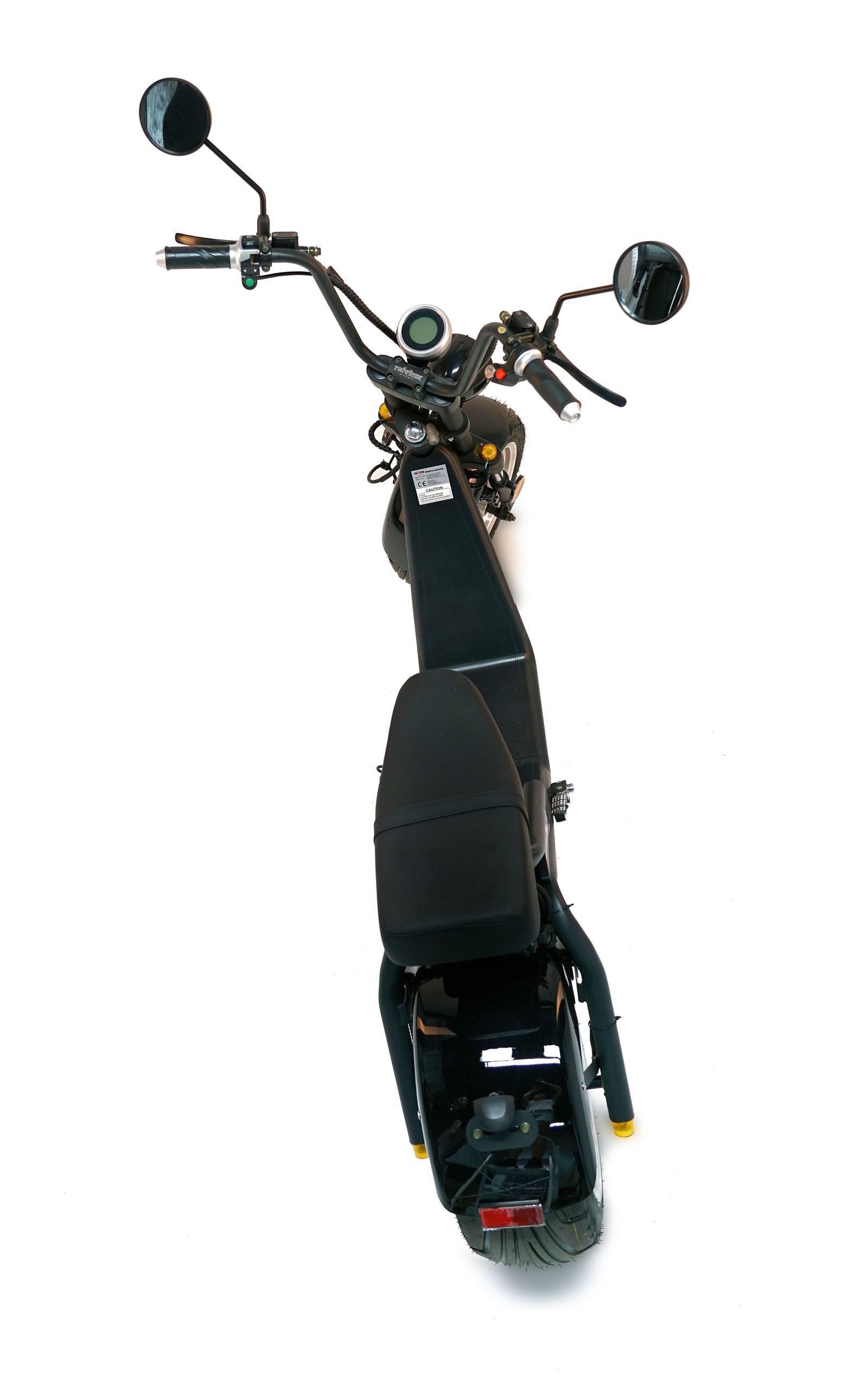Elektro Roller 50 E Nova Motorroller Mofa Moped Lithium schwarz Bild 11
