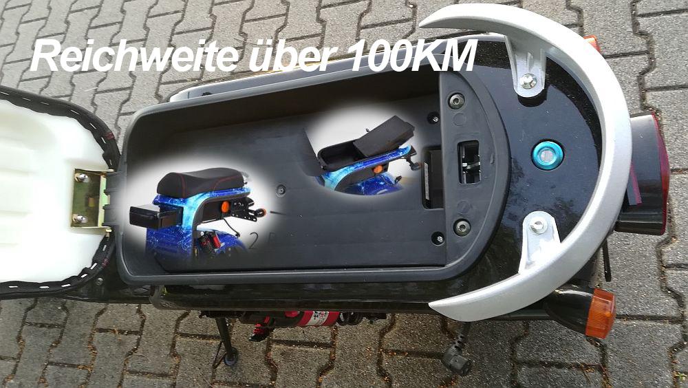 Elektromoped Elektroroller E-Roller Harley CP1-120 schwarz Bild 12