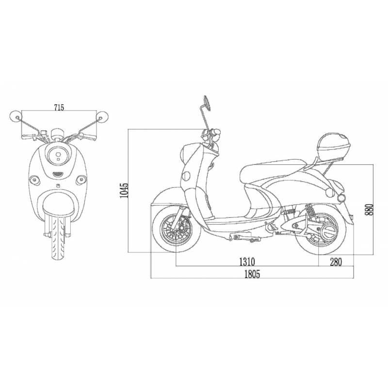 Elektroroller / E-Roller Futura One Akku herausnehmbar 2000 Watt Bild 6
