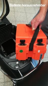 Elektroroller / E-Roller Futura One anthrazit Lithium-Akku 2000 Watt Bild 3