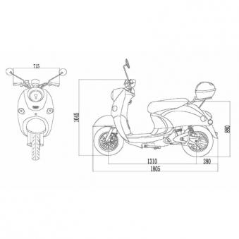 Elektroroller / E-Roller Futura One weiß Lithium-Akku 2000 Watt Bild 4