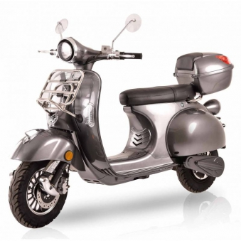 Elektroroller / E-Roller Ginabella 2800-120 grau Gepäckträger und Box Bild 1