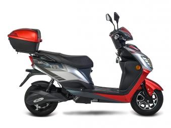 Elektroroller / E-Roller Siegurd, Blei-Gel-Akku, 1600 Watt 45KM/H rot Bild 3