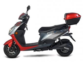 Elektroroller / E-Roller Siegurd, Blei-Gel-Akku, 1600 Watt 45KM/H rot Bild 4