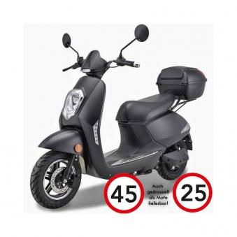 Elektroroller Motorroller Boschmotor Gina 45 - 25 km/h schwarz Bild 7