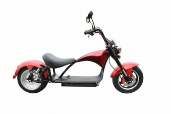 Elektroroller Mr.Harley C9 28 Ah E-Roller Chopper rot-matt Bild 2