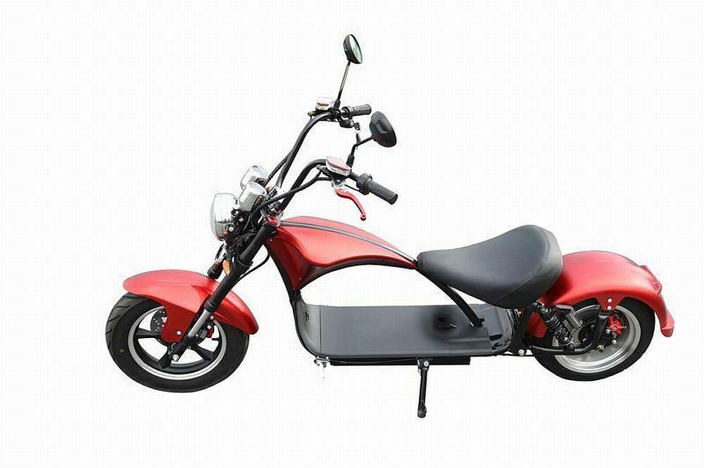 Elektroroller Mr.Harley C9 40 Ah E-Roller Chopper rot-matt Bild 8