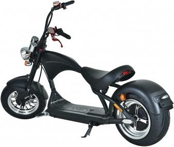 Elektroroller Mr.Harley C9 40 Ah E-Roller Chopper schwarz-matt Bild 1
