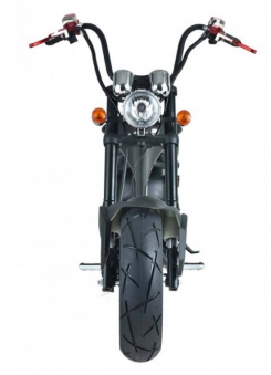 Elektroroller Mr.Harley C9 40 Ah E-Roller Chopper schwarz-matt Bild 3
