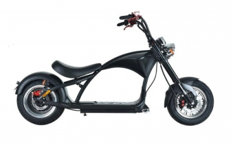 Elektroroller Mr.Harley C9 40 Ah E-Roller Chopper schwarz-matt Bild 4