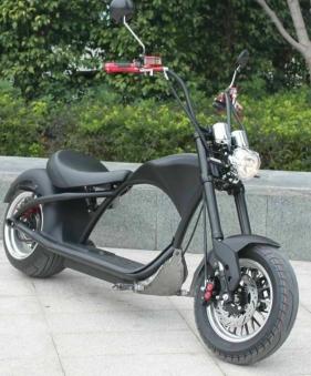 Elektroroller Mr.Harley C9 40 Ah E-Roller Chopper schwarz-matt Bild 5