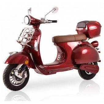 Elektroroller Retro 72 / Motorroller Ginabella Classico rot Lithium Bild 1