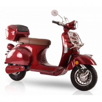Elektroroller Retro 72 / Motorroller Ginabella Classico rot Lithium Bild 3