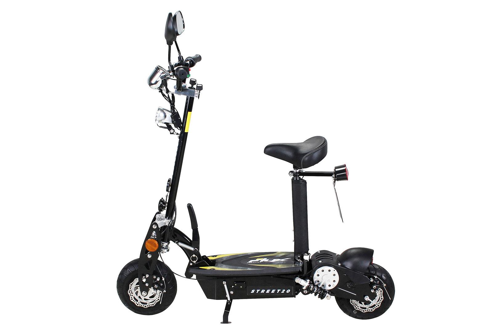 Elektroroller S20 schwarz mit Zulassung / E-Roller mit Sitz Bild 2