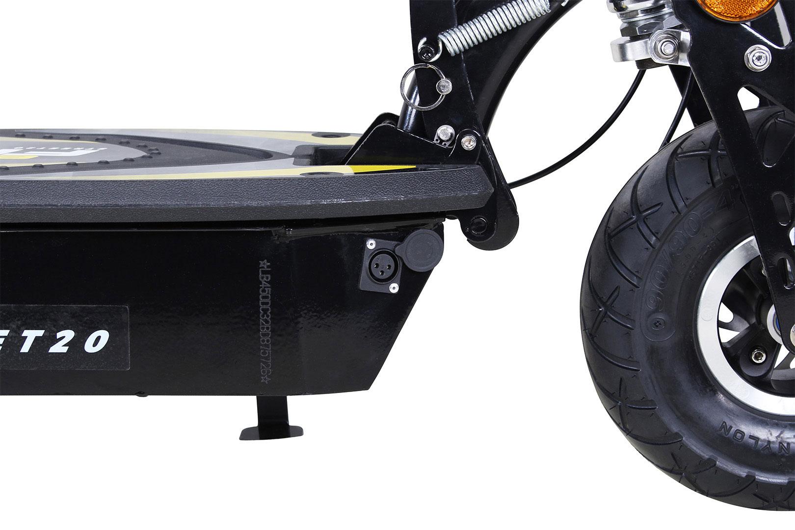 Elektroroller S20 schwarz mit Zulassung / E-Roller mit Sitz Bild 13