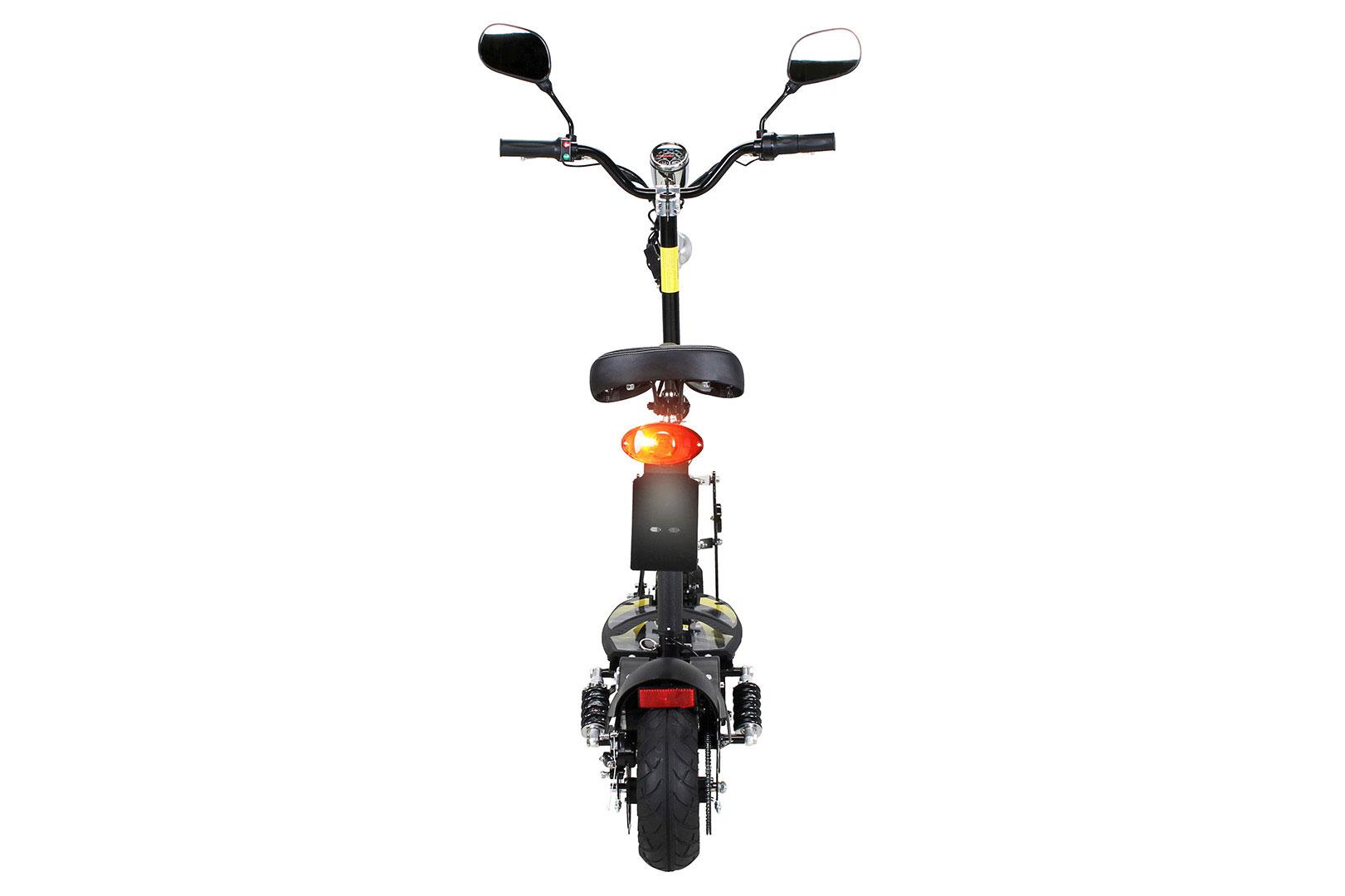 Elektroroller S20 schwarz mit Zulassung / E-Roller mit Sitz Bild 3