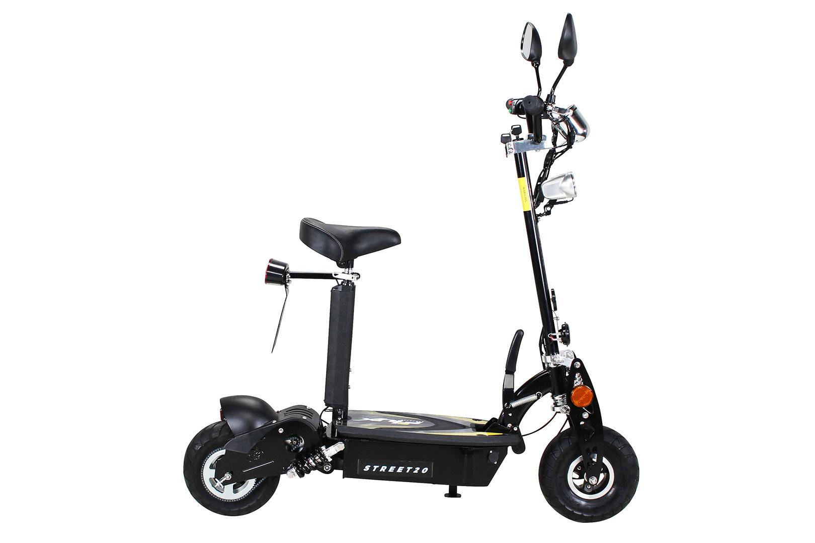 Elektroroller S20 schwarz mit Zulassung / E-Roller mit Sitz Bild 4