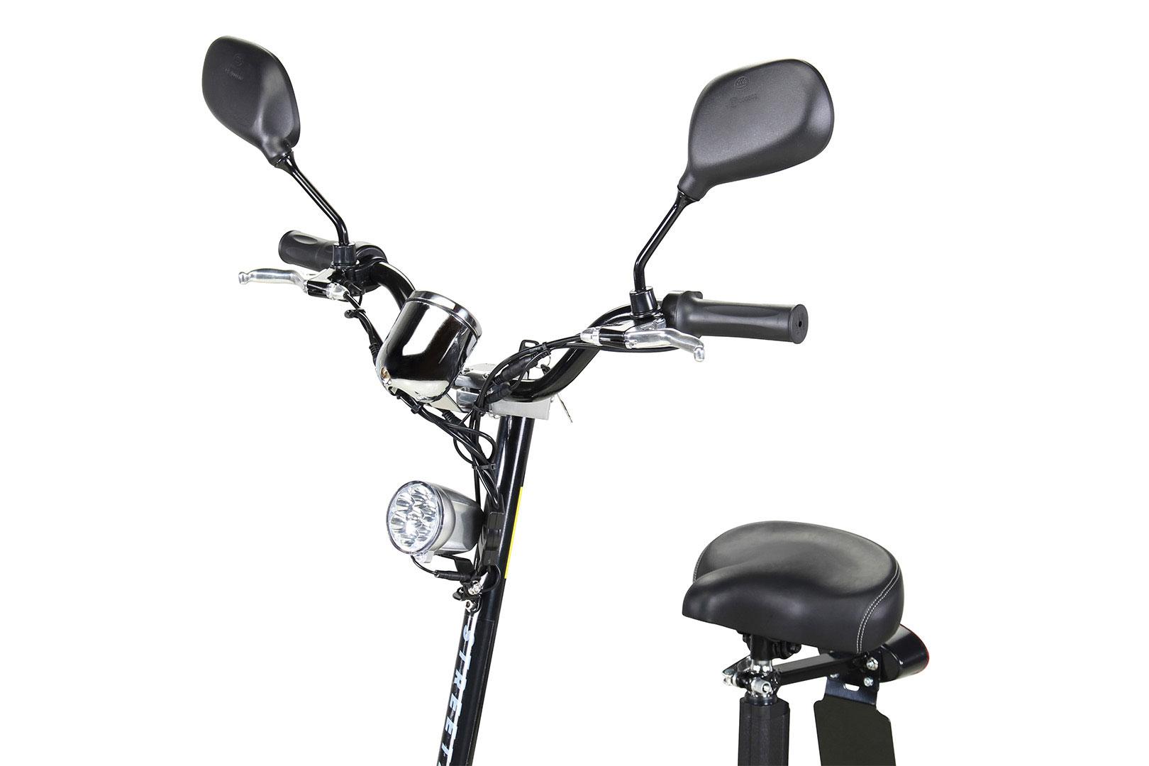 Elektroroller S20 schwarz mit Zulassung / E-Roller mit Sitz Bild 7
