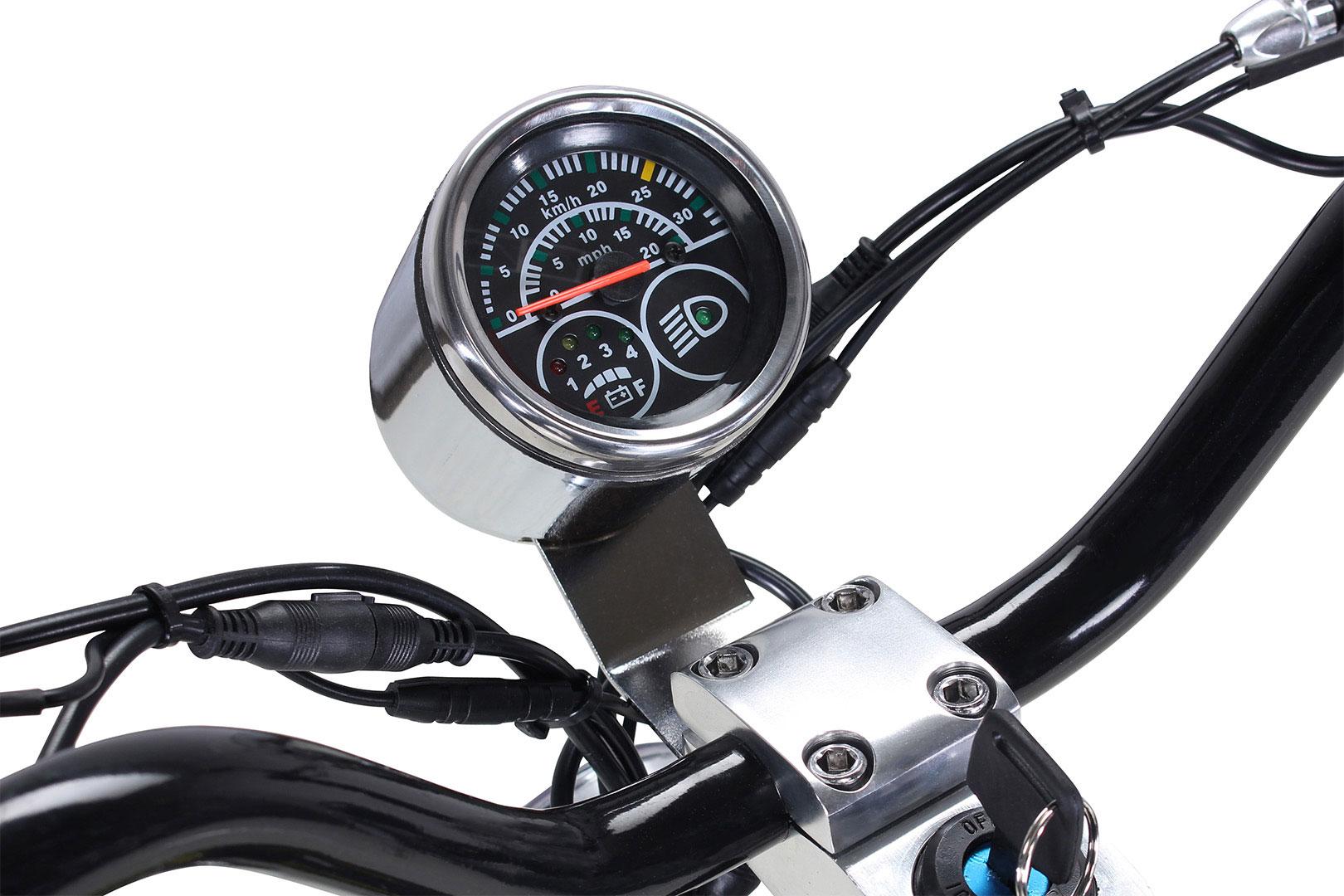 Elektroroller S20 schwarz mit Zulassung / E-Roller mit Sitz Bild 9