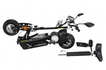 Elektroroller S20 schwarz mit Zulassung / E-Roller mit Sitz Bild 6