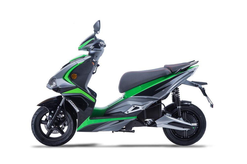Elektroroller / Scooter Sigfried1, Blei-Gel-Akku, 3000 Watt Grau grün Bild 1