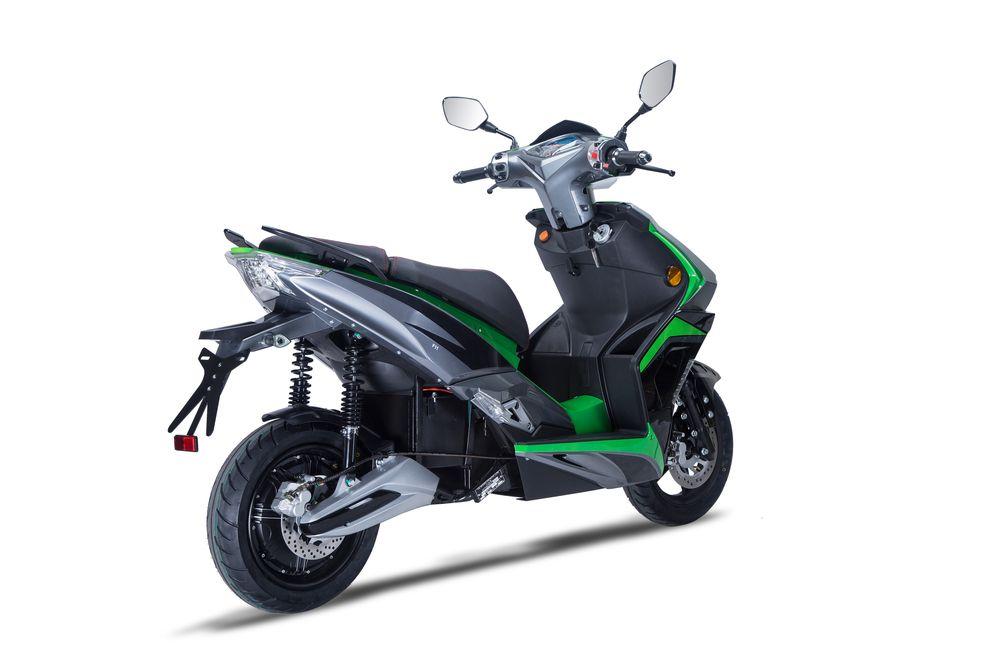 Elektroroller / Scooter Sigfried1, Blei-Gel-Akku, 3000 Watt Grau grün Bild 4