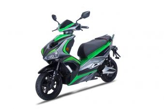Elektroroller / Scooter Sigfried1, Blei-Gel-Akku, 3000 Watt Grau grün Bild 2
