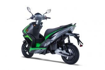 Elektroroller / Scooter Sigfried1, Blei-Gel-Akku, 3000 Watt Grau grün Bild 3