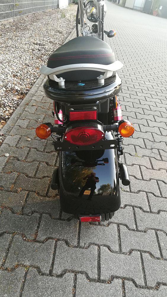 Elektroroller edi Chopper Harley 2-1500 schwarz Bild 2