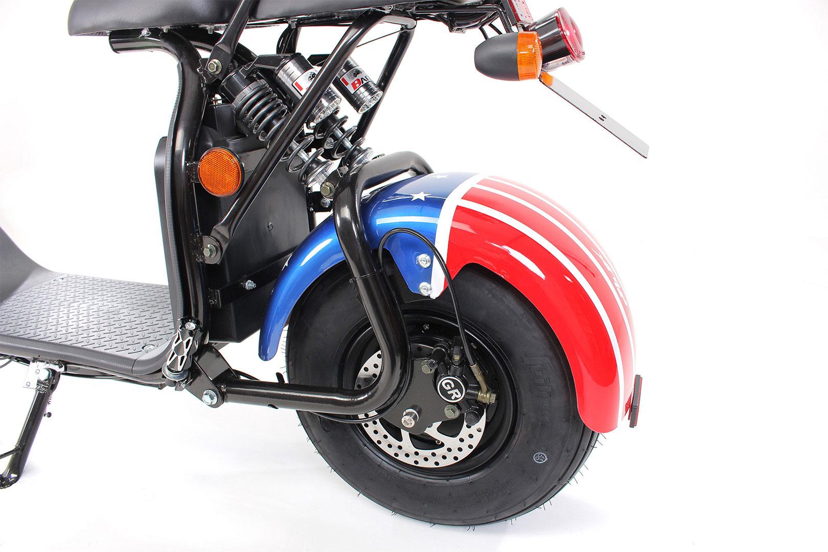Elektroroller edi Chopper Harley Two 1500W blau Bild 14