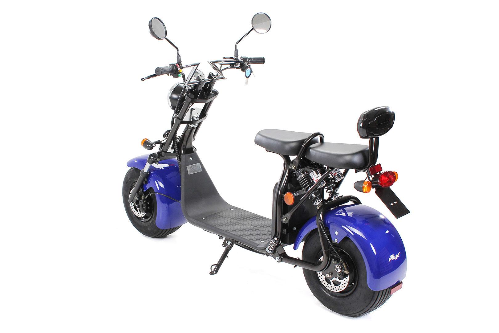 Elektroroller edi Chopper Harley Two 1500W blau Bild 5