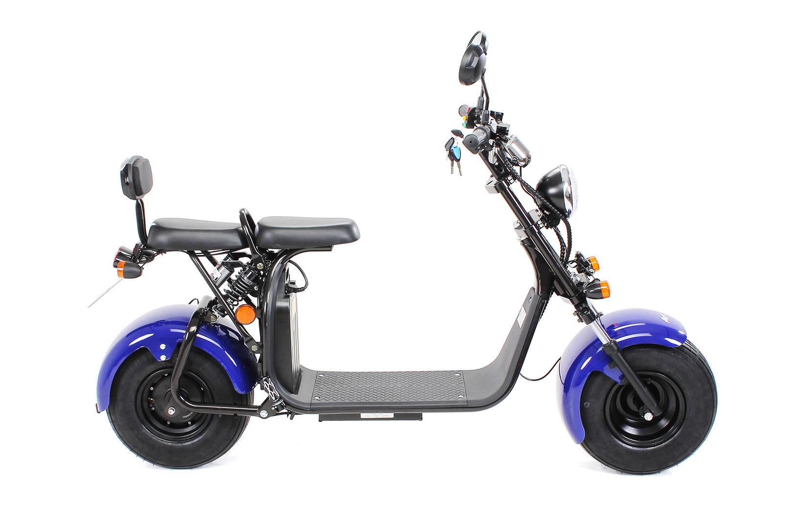 Elektroroller edi Chopper Harley Two 1500W blau Bild 8