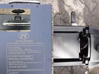 Ersatz - Zusatz Batterie für Elektroroller Mr. Harley Chopper 60V 20AH Bild 1