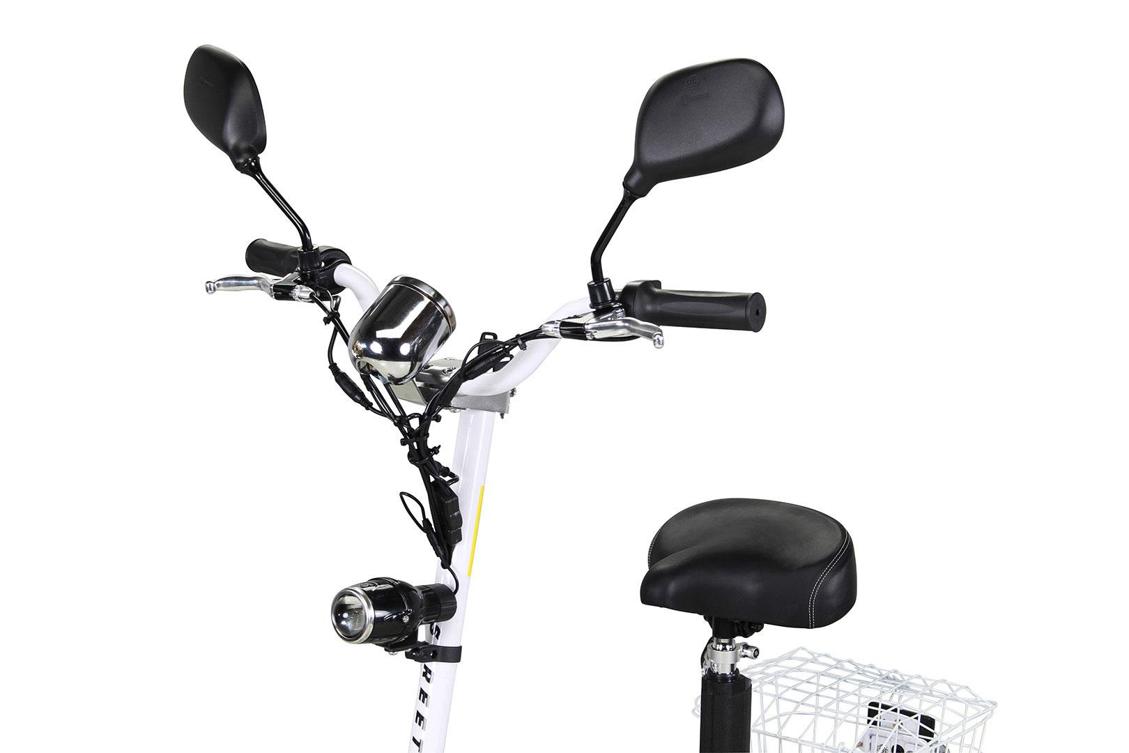 Mister ED Elektroroller S40 weiss mit Zulassung / E-Roller mit Sitz Bild 7