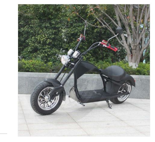 Mr. Harley Elektromotorrad  City Cruiser Electromoped schwarz Bild 2