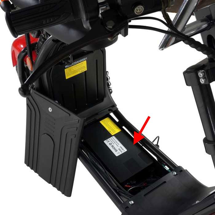 Zusatz Batterie 60V für Elektroroller Harley CP1 60V 20 Ah Bild 2